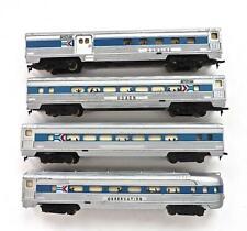 HO Mantua Set 4 Amtrak Phase I lighted Fluted Aluminum Passenger Cars (3EP)G3