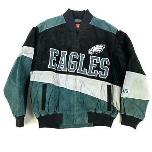 NWOT VTG Philadelphia Eagles Quilted Suede Leather Jacket Coat Varsity Letterman