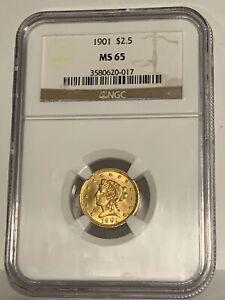 1901  $2.5 Dollar Gold Liberty NGC 65 Quarter Eagle