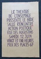 Affiche originale mai 68 THÉÂTRE DE L'ENSEMBLE Marron poster may 1968 292