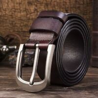 Smooth Belt Men Genuine Leather Waistband Waist Strap Men's Belts Pin Buckle