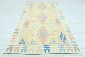 "Turkish Kayseri Small Kilim, Door Mat, Bathmat, Small Rug, Carpet, Tapis 39""x68"""