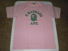 Authentic A Bathing APE BAPE BICOLOR COLLEGE TEE T SHIRT PINK L NEW RARE