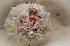 Wedding Flowers Flower Girl Bouquet in Vintage Peach