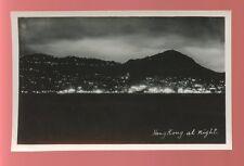 HONG KONG at Night Panoramic view RP PPC c1950s?
