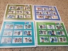 4 Major League Baseball in Stamps Sheets