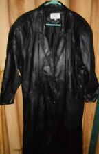 Winlit coat Small womens black Leather Trench ladies winter apparel outdoor