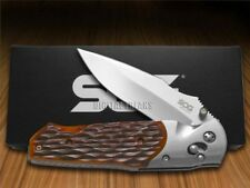 SOG A01-P Arcitech Jigged Brown Bone Locking Hunter Pocket Knife Stainless