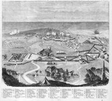 Kolobrzegi, Kolberg, Colberg, Polen, Belagerung 1807, Original-Holzstich ca.1880