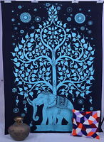 Tree of Life Elephant Tapestry Indian Wall Hanging Hippie Bedspread Wall Decor