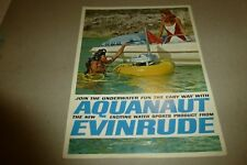 Vintage Evinrude Aquanaut brochure 1970s swimming/boating