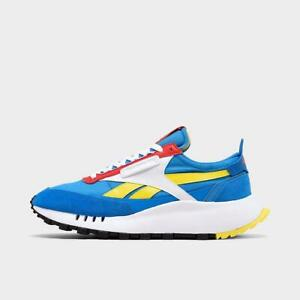REEBOK CLASSIC LEATHER LEGACY CASUAL MEN's BLUE - YELLOW - RED AUTHENTIC NEW US