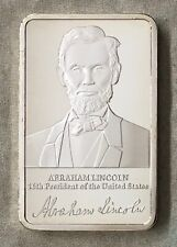 Abraham Lincoln, Mount Rushmore silver-plated Bar