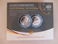 ★ 10 Euro Gedenkmünze Deutschland 2021 PP ★ Polymermünze Auf dem Wasser D F G J
