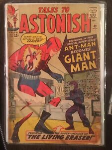 MARVEL COMICS - TALES TO ASTONISH #49 - FIRST GIANT MAN - CLASSIC KEY ISSUE 1963