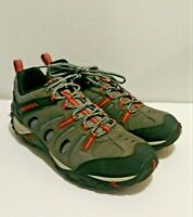 Merrell Crosslander Vent Low Grey Suede Mesh Hiking Shoes Air Cushion MENS 11.5