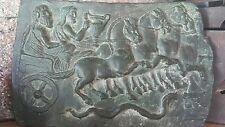 VINTAGE PLAQUE OLD ANCIENT GREEK ROMAN BC - AC UNKNOWN ERA BRONZE BRASS