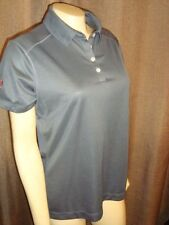 NWT Nike Dri-Fit Grey Golf Ladies Polo Sport Shirt Womens Top Dr. Pepper SIZE M