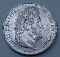 Louis Philippe I. 5 Francs 1839 BB Strasbourg TTB+