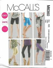 M6360 Womens Leggings in 4 lengths Sizes 18w-24w McCall's Sewing Pattern