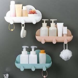 Bath Bathroom Storage Shelf With Hanging Hook Kitchen Shower Gel Cloud Shaped