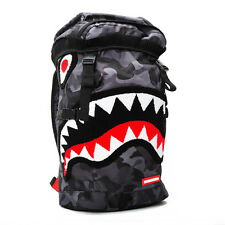 Brand New SPRAYGROUND Chenille Black Camo Shark Top Loader Bag