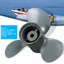 9 7/8 x 11 Aluminum Propeller For Honda Outboard 25-30 HP 58130-ZV7-011AH Gray