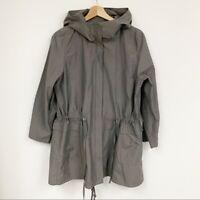Eileen Fisher Weather-Resistant Grey Jacket Sz LP
