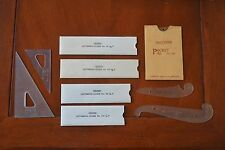 Lot Of 9 Vintage Drafting Architect Engineering Lettering Guide Wrico Tools