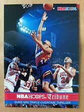 MICHAEL JORDAN & PIPPEN on KEVIN JOHNSON 1993-94 Hoops #294 Finals Tribune Bulls