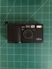 Ricoh GR1v BLACK 35mm Film Camera + Hood Filter Box + Instructions + Case Mint