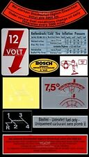 Volkswagen Beetle Restoration Decal Sticker Set