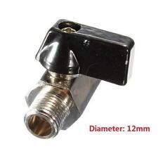 """DZ1322 Chrome Brass 1/4"""" Bsp Ball Valve Tap Male to Female Air Compressor Hose ♫"""