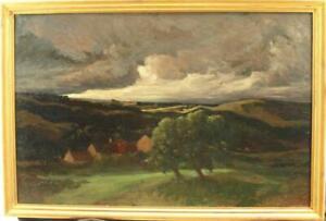 LARGE ETIENNE DE MARTENNE 1868-1920 FRENCH IMPRESSIONIST Antique Oil Painting