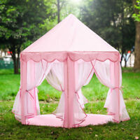 Pink Princess Castle Play House Large Indoor/Outdoor Kids Play Tent for Girls