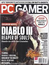 PC Gamer videogame magazine Diablo 3 Titanfall Call of Duty Ghosts Arma 3      .