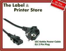 New Kettle Power Cable Cord Lead  - EU Plug 2 Pin