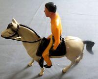 "1960's Jim Hardie Hartland Complete Mini Statue w/ Horse Made In U.S.A 4"" Model"