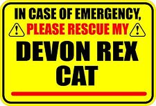 In Case Of Emergency Please Rescue My Devon Rex Cat Sticker