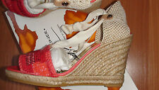NEW DONALD J PLINER ELSA CANVAS/COTTON WOMEN'S SHOES sz. 8 M MADE IN SPAIN