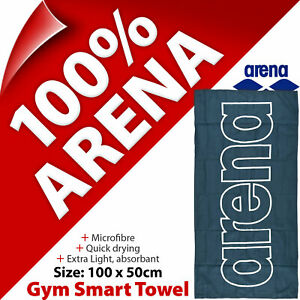 Arena Gym Smart Towel 100 x 50cm Microfibre for Swim Sports Yoga Fitness Travel