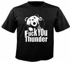 Motiv Fun T-Shirt Ted Fuck You Thunder Film Kult Kino Dvd Motiv Nr. 3857