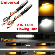 4pc motorcycle bicycle 15 LED turn signal light flashing two-color flow mode