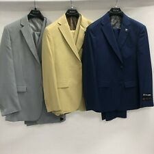 Big & Tall Men's  Stacy Adams 3 Pc. Single Breasted Suit - Up to Size 56 Reg.
