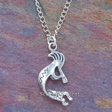 925 sterling silver KOKOPELLI 3D Charm Native American Indian Pendant Necklace