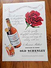 1940 Old Schenley's Whiskey Ad Bottled in Bond