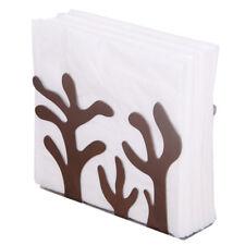 Stainless Steel Napkin Rack Box Dispenser Tissue Holder Plant Table DecorationLS