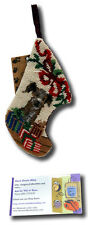 Border Terrier Dog Stocking Christmas Needlepoint Patchwork Puppy Sk-812Xs