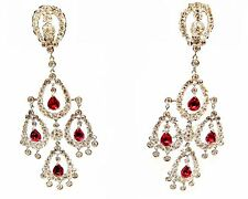 RUBY PEAR SHAPE EIGHT STONE SET WITH WHITE ROUND BRILLIANT