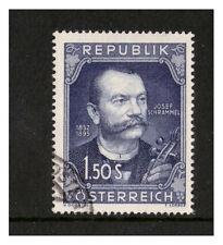AUSTRIA REPUBLIK OSTERREICH 1952 BIRTH CENTENARY SCHRAMMEL VERY FINE USED